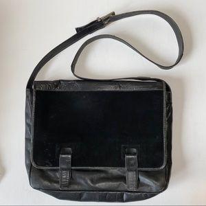 Vintage Kenneth Cole Leather Suede Messeng…